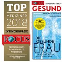 Dr. Michaela Montanari ist in der Focusliste für Intimchirurgie 2018 empfohlen